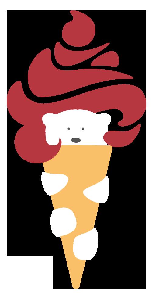 Eisbeer in Eistüte